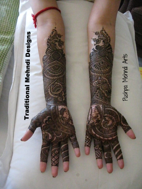 Mehndi Traditional Designs : Bridal mehndi designer